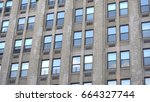 apartment office building... | Shutterstock . vector #664327744