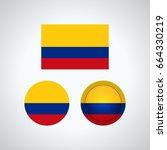 flag design. colombian flag set....   Shutterstock .eps vector #664330219