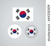 flag design. south korean flag...   Shutterstock .eps vector #664330309