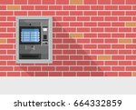 atm machine in bank or office...   Shutterstock .eps vector #664332859