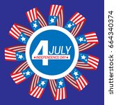 celebration of the 4th of july... | Shutterstock .eps vector #664340374