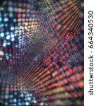 abstract glitter bokeh blurred... | Shutterstock . vector #664340530