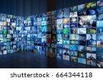 information network concept.... | Shutterstock . vector #664344118