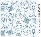 school elements vector... | Shutterstock .eps vector #664356124