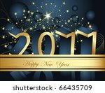 happy new year 2011 background | Shutterstock .eps vector #66435709