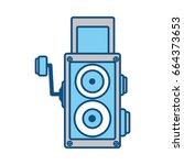 old cinema camcorder | Shutterstock .eps vector #664373653