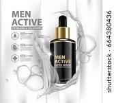 collagen serum background... | Shutterstock .eps vector #664380436
