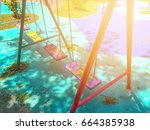 Colorful Swings In The...