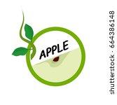 apple fruit icons flat style ...   Shutterstock .eps vector #664386148