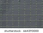 fence of steel netting texture...   Shutterstock . vector #664393000