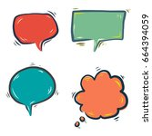 speech bubble doodle | Shutterstock .eps vector #664394059
