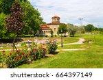 st. lydia first european... | Shutterstock . vector #664397149