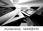 abstract white interior of the... | Shutterstock . vector #664408150