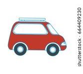 isolated travel car | Shutterstock .eps vector #664409230