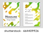 abstract vector layout... | Shutterstock .eps vector #664409926