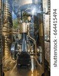 steam clock in vancouver  ... | Shutterstock . vector #664415494