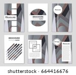 abstract vector layout... | Shutterstock .eps vector #664416676
