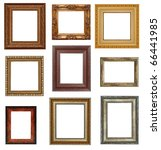 Nine Antique Picture Frames...