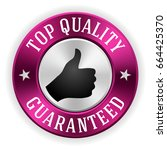 silver top quality badge button ... | Shutterstock .eps vector #664425370