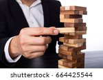 risk management for insurance... | Shutterstock . vector #664425544