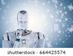 3d rendering robot learning or... | Shutterstock . vector #664425574