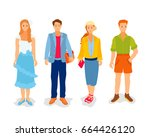 set of young people | Shutterstock .eps vector #664426120