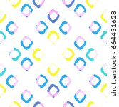 ikat seamless background with... | Shutterstock .eps vector #664431628