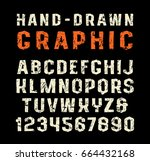 sanserif font in the style of... | Shutterstock .eps vector #664432168
