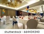 luxury  elegant birthday party... | Shutterstock . vector #664434340