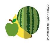 watermelon fruit icon | Shutterstock .eps vector #664445620