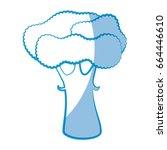 broccoli vegetable icon | Shutterstock .eps vector #664446610