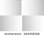 abstract halftone dotted... | Shutterstock .eps vector #664448368
