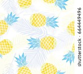 Pineapple Pattern  Vector ...
