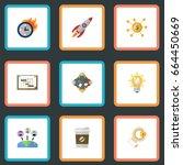 flat icons break  limit ... | Shutterstock .eps vector #664450669
