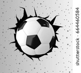 football or soccer ball with... | Shutterstock . vector #664460584