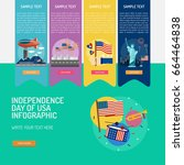 infographic independence day of ... | Shutterstock .eps vector #664464838