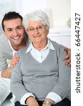 closeup of elderly woman with... | Shutterstock . vector #66447427