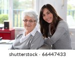 closeup of elderly woman with... | Shutterstock . vector #66447433