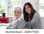 closeup of elderly woman with... | Shutterstock . vector #66447433