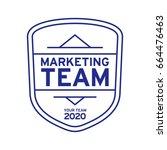 retro badge graphic logo emblem ... | Shutterstock .eps vector #664476463