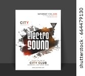 electro sound  music party... | Shutterstock .eps vector #664479130