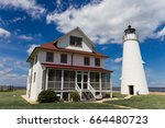 the wonderful lighthouse at... | Shutterstock . vector #664480723