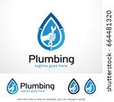 plumbing logo template design... | Shutterstock .eps vector #664481320
