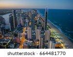 gold coast  australia. march... | Shutterstock . vector #664481770