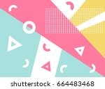 memphis pattern  memphis style  ... | Shutterstock .eps vector #664483468