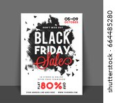 black friday sale and discount... | Shutterstock .eps vector #664485280