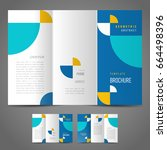 brochure design template tri... | Shutterstock .eps vector #664498396