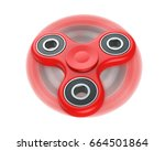 red fidget finger spinner... | Shutterstock . vector #664501864