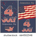 happy independence day of... | Shutterstock .eps vector #664502548