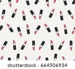 lipstick seamless vector pattern | Shutterstock .eps vector #664506934